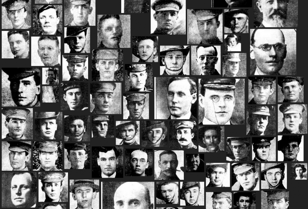 A small sample of the faces extracted from the Chronicle.