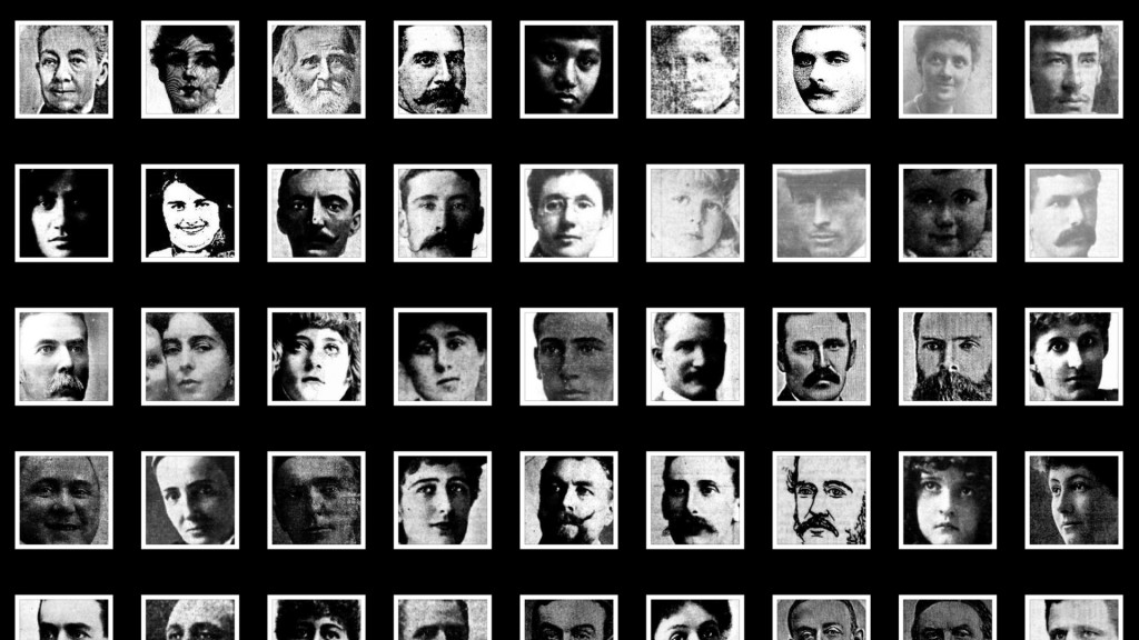 Samples of the faces extracted from Trove newspapers