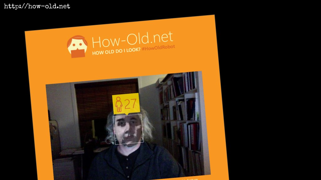 Results of feeding Vintage Face depot output to the How Old bot