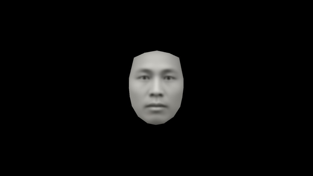 Face created by averaging portraits in The Real Face of White Australia