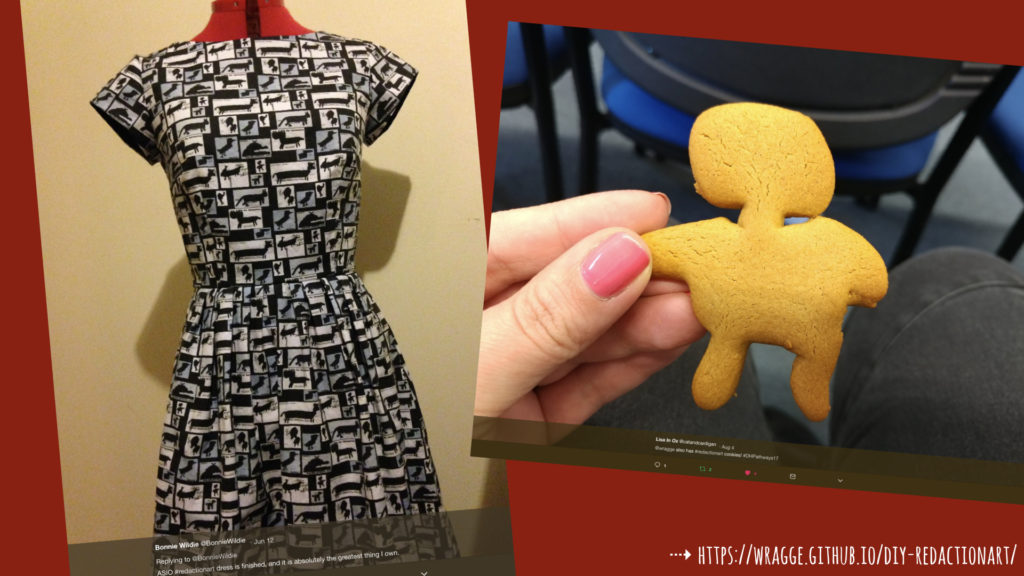 Photo of #redctionart dress and cookies